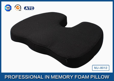 China Orthopedic Memory Foam Coccyx Cushion For Relief Of Tailbone Pain With Non - slip Base supplier