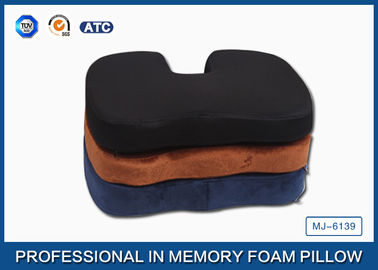 China Memory Foam Orthopedic Seat Cushion With 3D Mesh and Poly Velvet Fabric supplier
