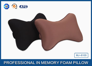 China Black Colour Memory Foam Car Neck Pillow , Auto Head Support Cushion supplier