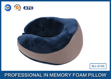 China Contour Memory Foam Travel Neck Pillow U - shape Pillow with Diversity Pillow Case in Airplane supplier