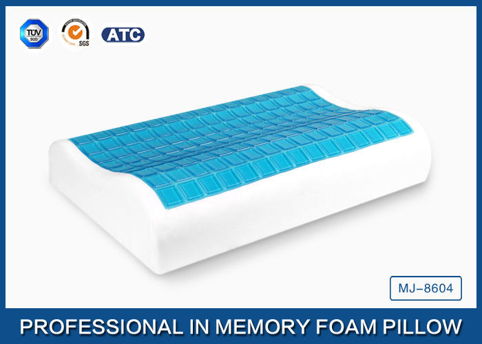 Traditional Shape Memory Foam Pillow : High Density Cooling Gel Memory Foam Contour Pillow , Traditional Shape Gel Neck Pillow