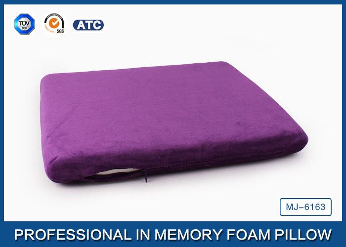 Non Slip Memory Foam Seat Cushion For Back Pain / Memory Foam Chair Pads
