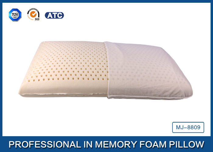 comfort traditional health care opencell latex foam pillow with soft cover
