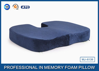 Good Quality Traditional Memory Foam Pillow & Pressure Relief Visco Memory Foam Wedge Seat Cushion For Plane And Wheelchair on sale