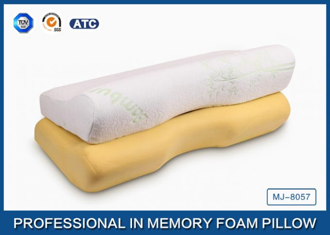 Home Standard Size Curved Memory Foam Pillow For Neck Pain And Side Sleeper