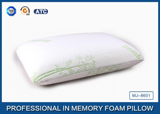 Ventilated Traditional Memory Foam Cooling Gel Pillow Bamboo Cover With Zipper